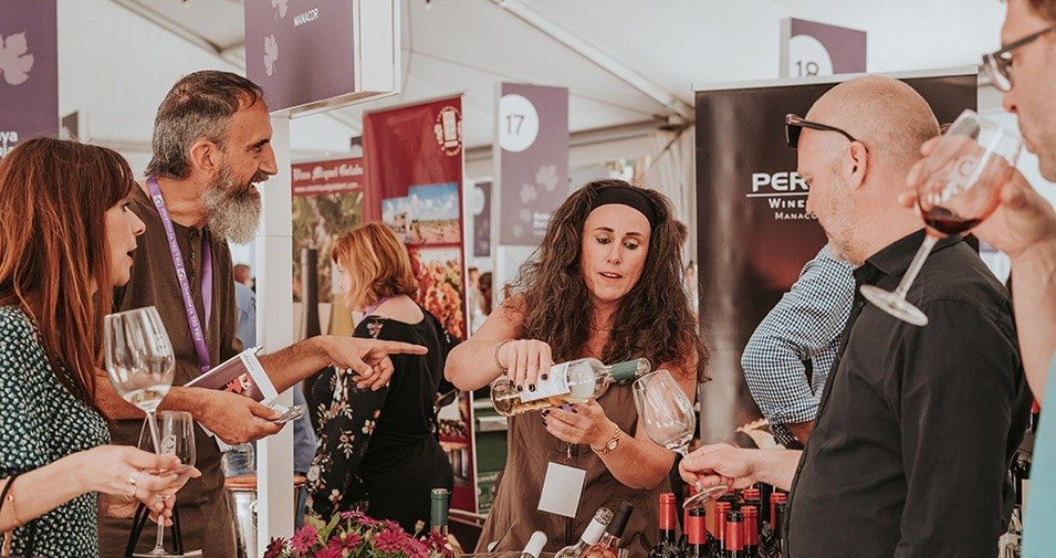 Wine tasting at the Pollensa Wine Fair
